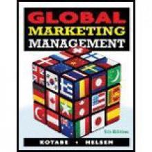 Global Marketing Management by Kotabe,Masaaki (Mike); Helsen,Kristiaan. [2010,5th Edition.] Paperback - Kotabe