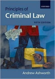 Principles Of Criminal Law - Andrew Ashworth
