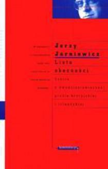 Lista obecności - Jerzy Jarniewicz