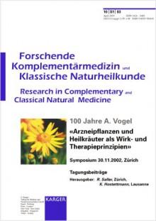 100 Jahre A. Vogel - Reinhard Saller, K. Hostettmann