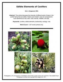 Edible Elements of Conifers - Eric J. Guignard