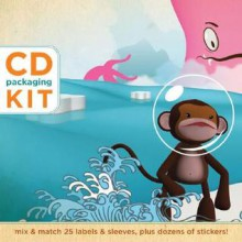 CD Packaging Kit--Surf & Turf: Mix & Match 25 Labels and Sleeves, Plus Dozens of Stickers! - Oksana Badrak