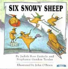Six Snowy Sheep -