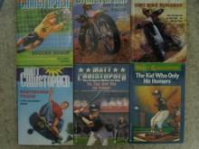 Six Matt Christopher Paperbacks (Soccer Scoop; Dirt Bike Racer; Dirt Bike Runaway; Skateboard Tough; The Year Mom won the Pennant; The Kid Who Only Hit Homers) (Matt Christopher) - astroboy