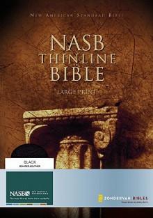 NASB Thinline Bible, Large Print - Anonymous