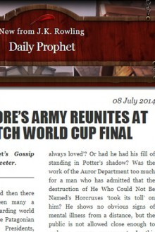 Dumbledore's Army Reunites at Quidditch World Cup Final - J.K. Rowling