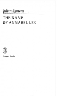 The Name of Annabel Lee - Julian Symons