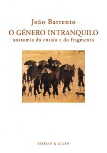 O Género Intranquilo - Anatomia do Ensaio e do Fragmento - João Barrento