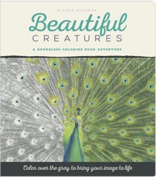 Beautiful Creatures: Grayscale Coloring Book - Nicole Stöcker