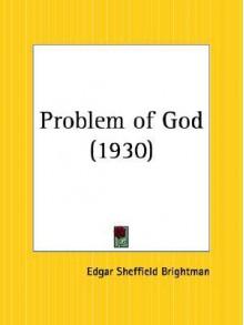 Problem of God - Edgar Brightman