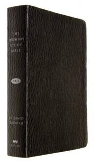 The Jeremiah Study Bible, NKJV: Black LeatherLuxe(TM) w/thumb index - David Jeremiah