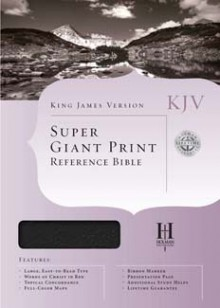 KJV Super Giant Print Reference Bible - Anonymous