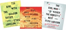 Stieg Larson Trilogy Audiobook set The Girl with the Dragon Tattoo, The Girl Who Played with Fire, and The Girl Who Kicked the Hornet's Nest [Unabridged Audio CD] - Stieg Larsson, Simon Vance