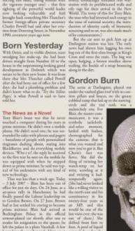 Born Yesterday - Gordon Burn