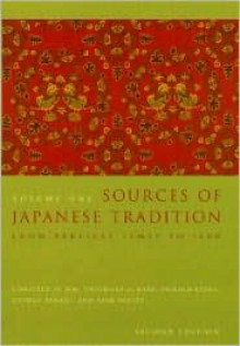 Sources of Japanese Tradition (Volume I) - William Theodore de Bary, Ryusaku Tsunoda, Donald Keene