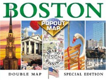 Boston Popout Map: Greater & Downtown Boston, Beacon Hill, Harvard Square, Subway (Popout Map) - Rand McNally