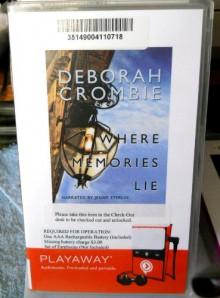 Where Memories Lie by Deborah Crombie - Playaway Audio - Deborah Crombie, Jenny Sterlin