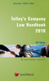 Tolley's Company Law Handbook 2010 - wareham, Robert Wareham