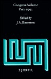 Congress Volume Paris 1992 - J.A. Emerton