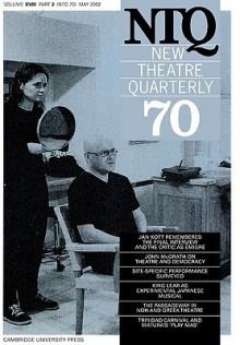 New Theatre Quarterly 70: Volume 18, Part 2 - Clive Barker