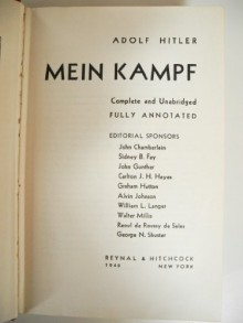 Mein Kampf Complete and Definitive Unexpurgated Edition, Annotated Translation - Hardcover - John Chamberlain...