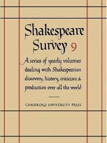 Shakespeare Survey 9: Hamlet - Allardyce Nicoll