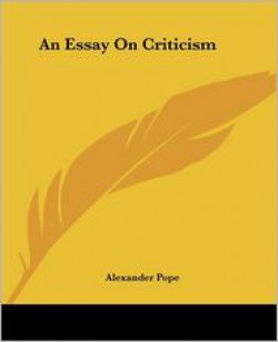 an essay on critcism
