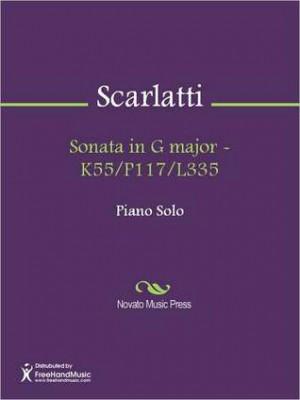 Sonata in G major - K55/P117/L335