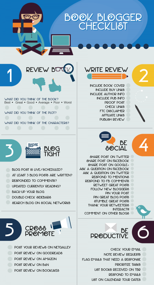 Book Blogging Checklist InfoGraphic