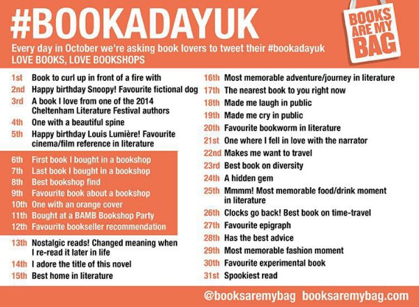 October #bookadayuk is ready to roll!
