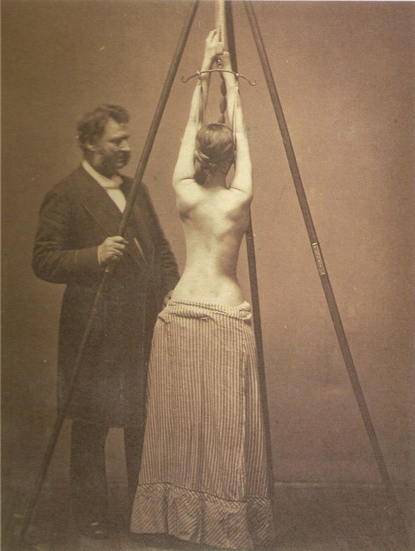 Scoliosis rack, Lewis A. Sayre's 1877 publication, Spinal Disease and Spinal Curvature