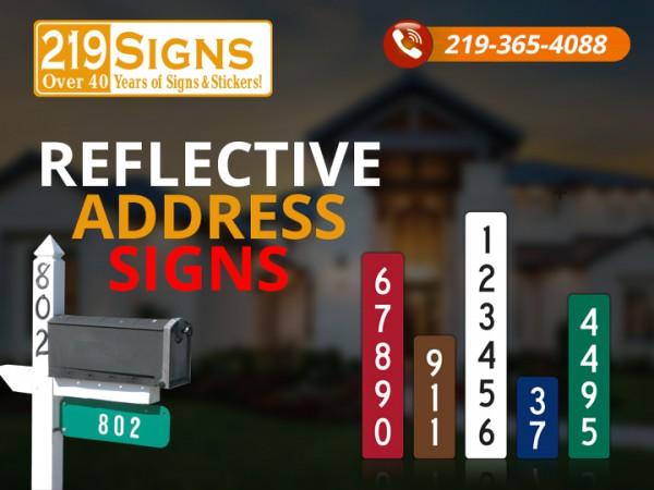Reflective address markers design