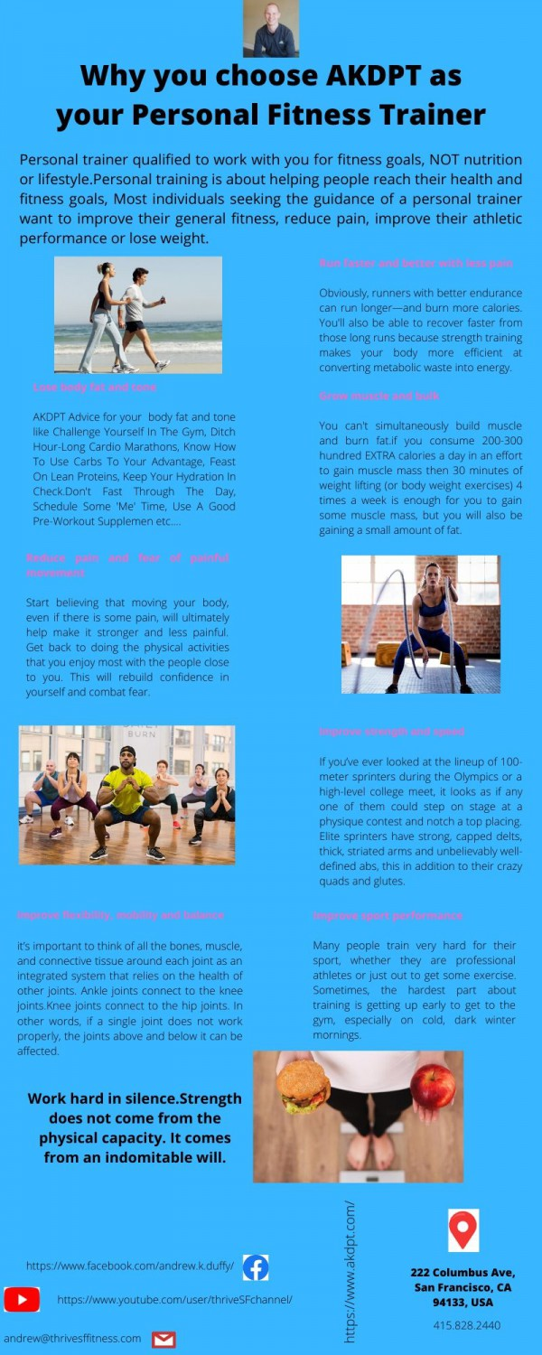 Why To Choose AKDPT As Your Personal Fitness Trainer