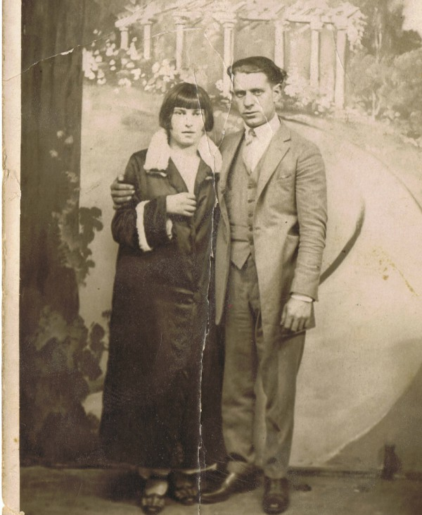 My great-grandmother's wedding portrait.