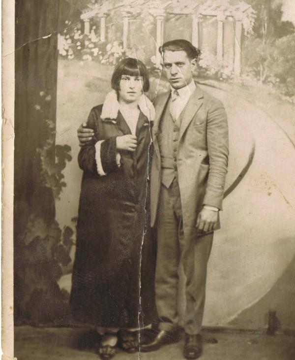My great-grandmother's wedding portrait.