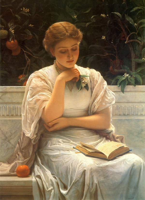 Girl Reading by Charles Edward Perugini (1878)