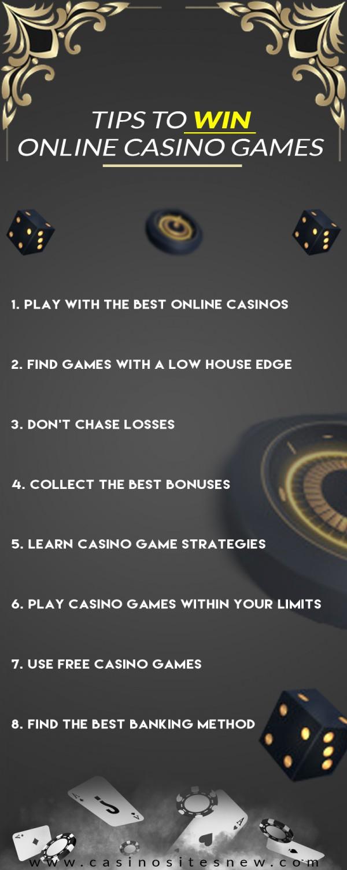 Tips to Win Online Casino Games – Casino Infographic