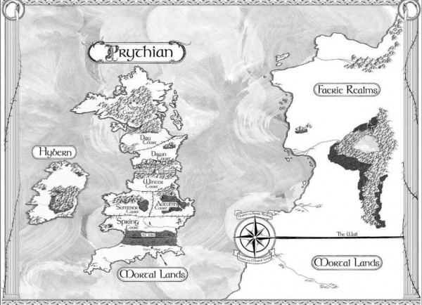 A Court of Thorns and Roses map