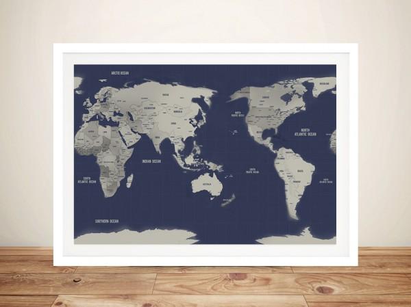 Push Pin World Travel Maps