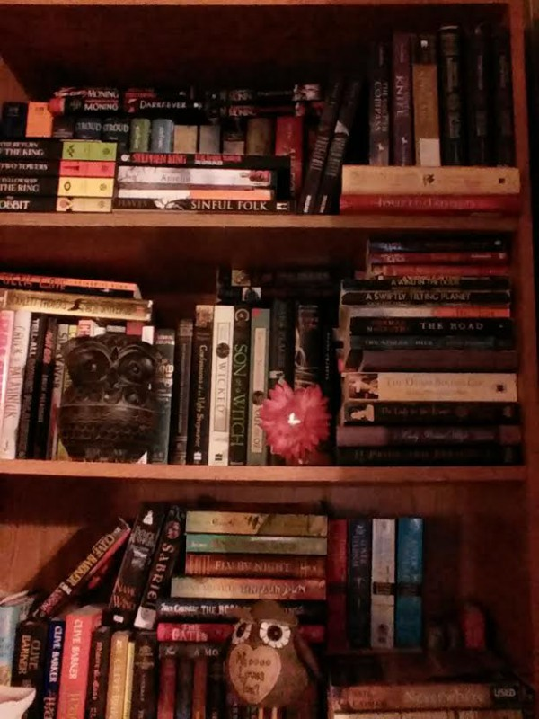 After//organized bookshelves