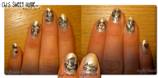 Starkku on DeviantArt - http://a-sweet-home.deviantart.com/art/Chi-s-Sweet-Home-nail-art-278493363