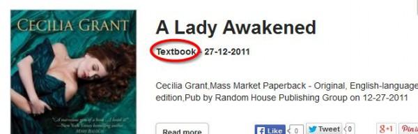 Textbook? Err... not quite.