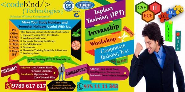 best internship in chennai