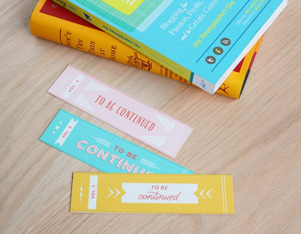 To be continued bookmarks