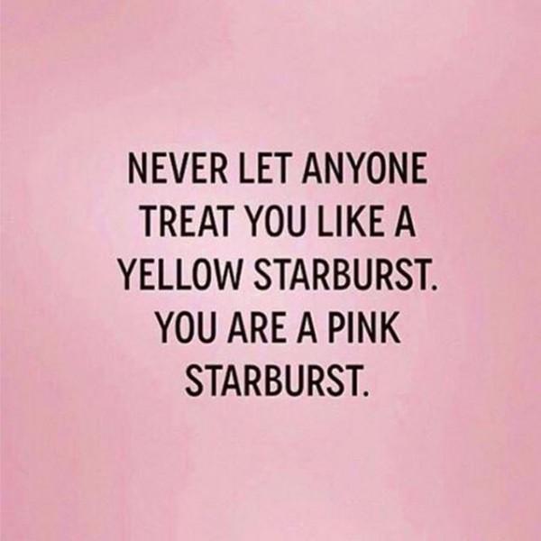 #PinkStarburst #WordstoLiveBy