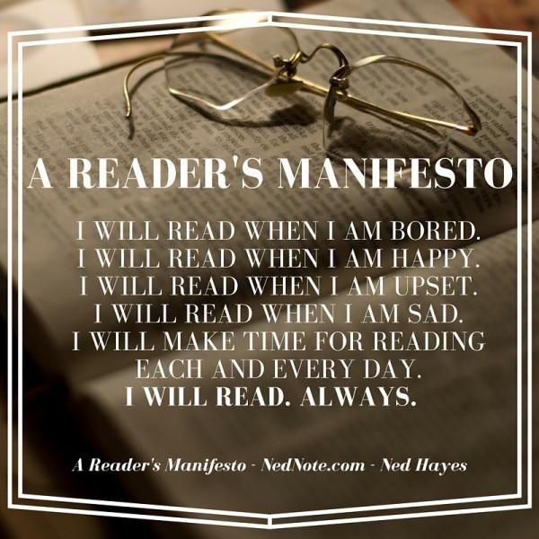 Reader's Manifesto