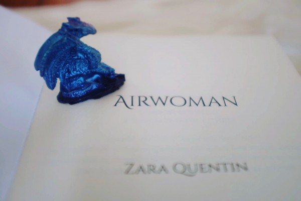 Airwoman with dragon