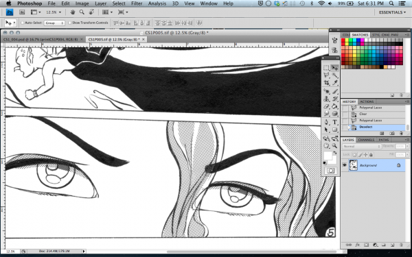 WHEN we used to apply screentone by hand :) cut with an X-acto.