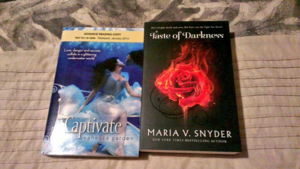 MAIL CALL! Captivate by Vanessa Garden and Taste of Darkness by Maria V. Snyder