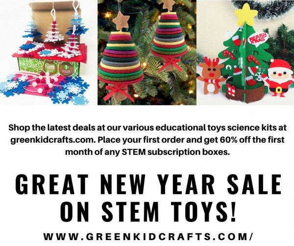 Great Sale on STEM Toys at greenkidcrafts.com